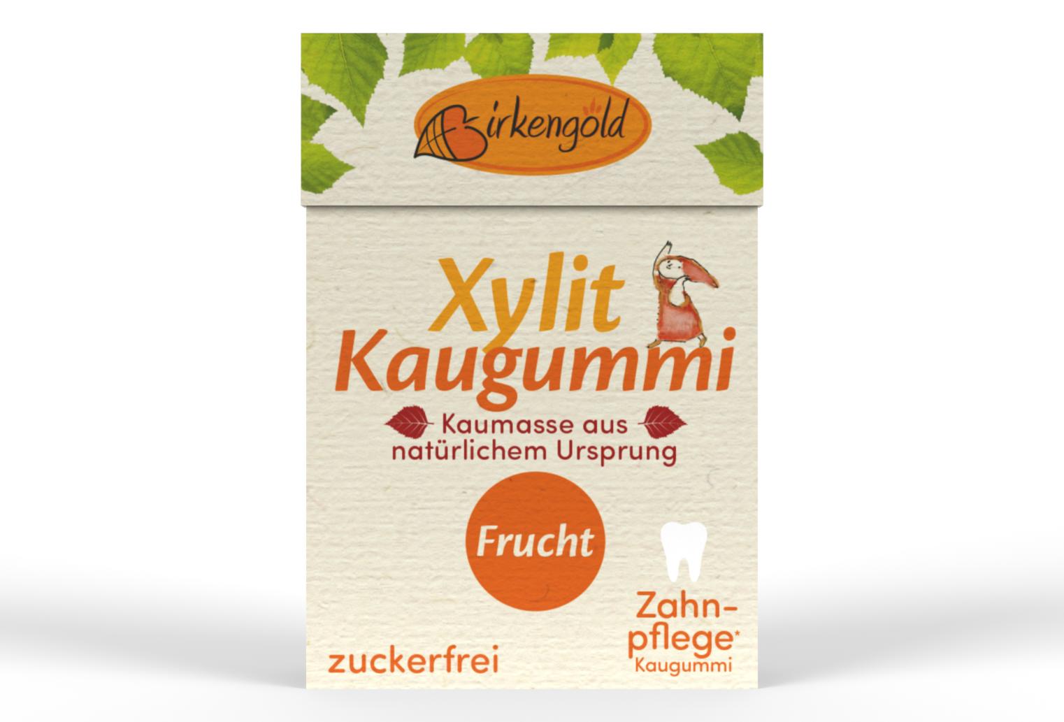 Birkengold Kaugummi Frucht nat. Kaumasse