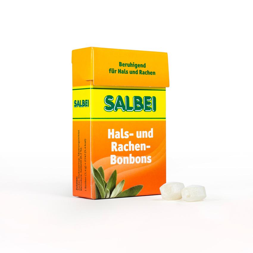 Salbei Hals- und Rachenbonbons mit Zucker
