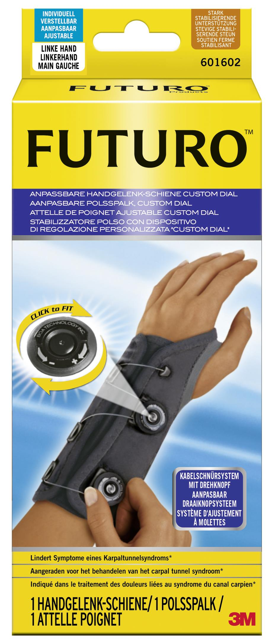 Futuro Custom Dial Handgelenk-Schiene, anpassbar