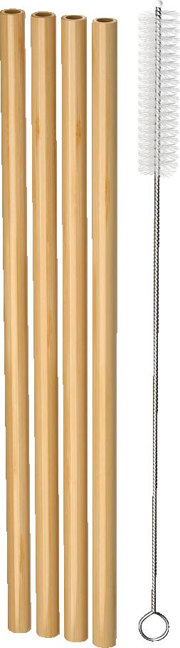 Nordics Strohhalme Bambus mit Reinigungsbürste Öko
