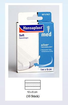 Hansaplast med soft 10cm x 6 cm 10 Stück