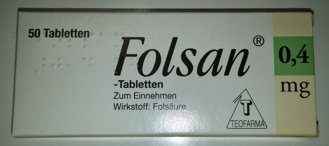 Folsan 0,4 mg - Tabletten