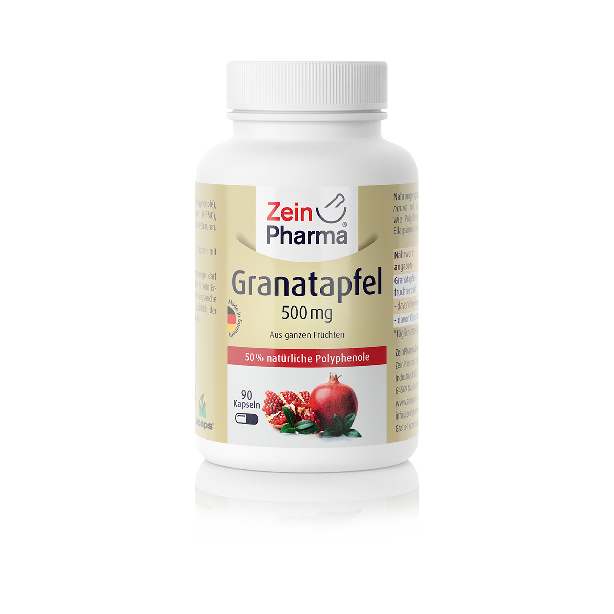 Zeinpharma Granatapfel Extrakt 500 mg Kapseln
