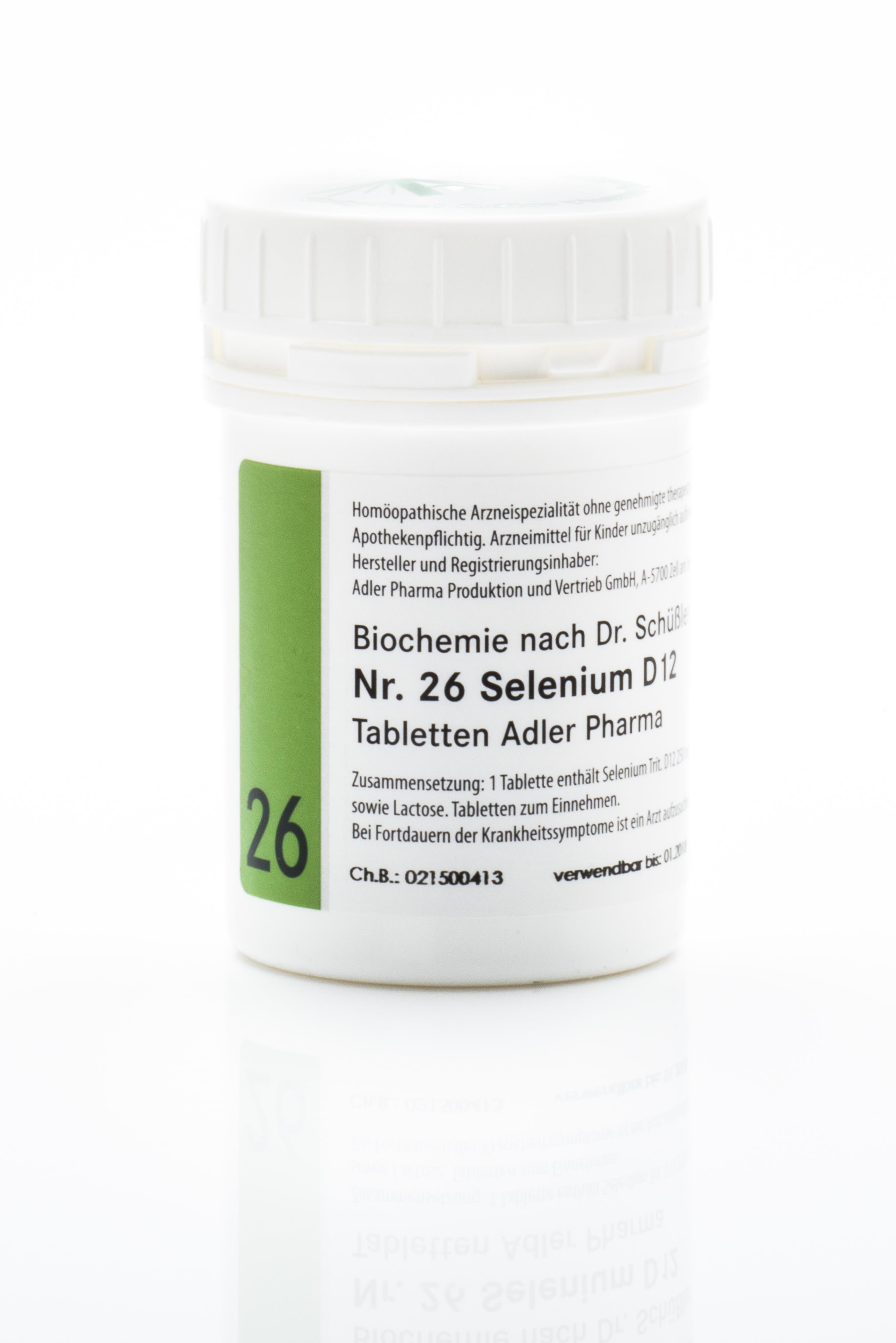 Schüßler Salz Adler Nr. 26 D12 Tabletten