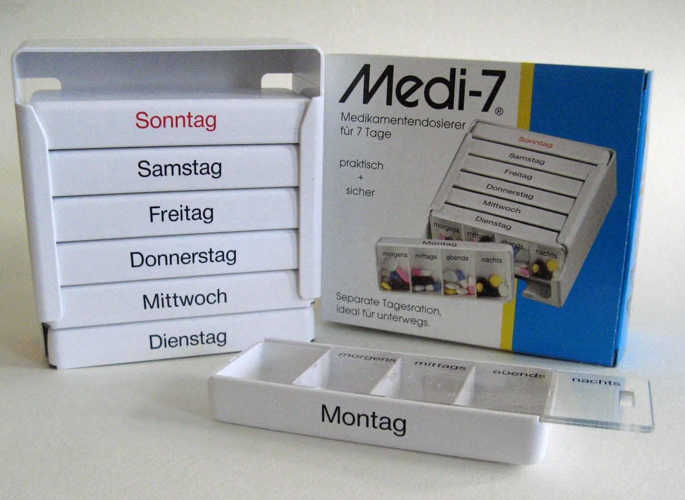 Medi7 Medikamentendosierer für 7 Tage