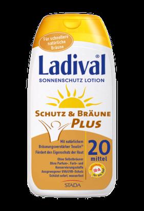 LADIVAL® Schutz & Bräune PLUS Sonnenschutz Lotion LSF 20
