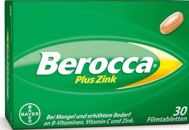 Berocca® plus Zink – Filmtabletten