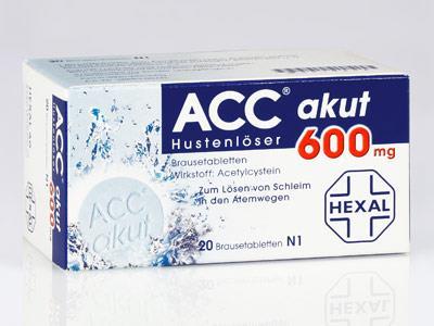 Husten ACC Hexal akut 600 mg - Brausetabletten
