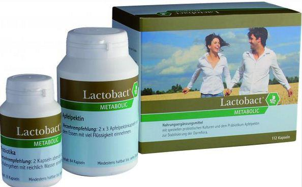 Lactobact METABOLIC Probiotika + Apfelpektin