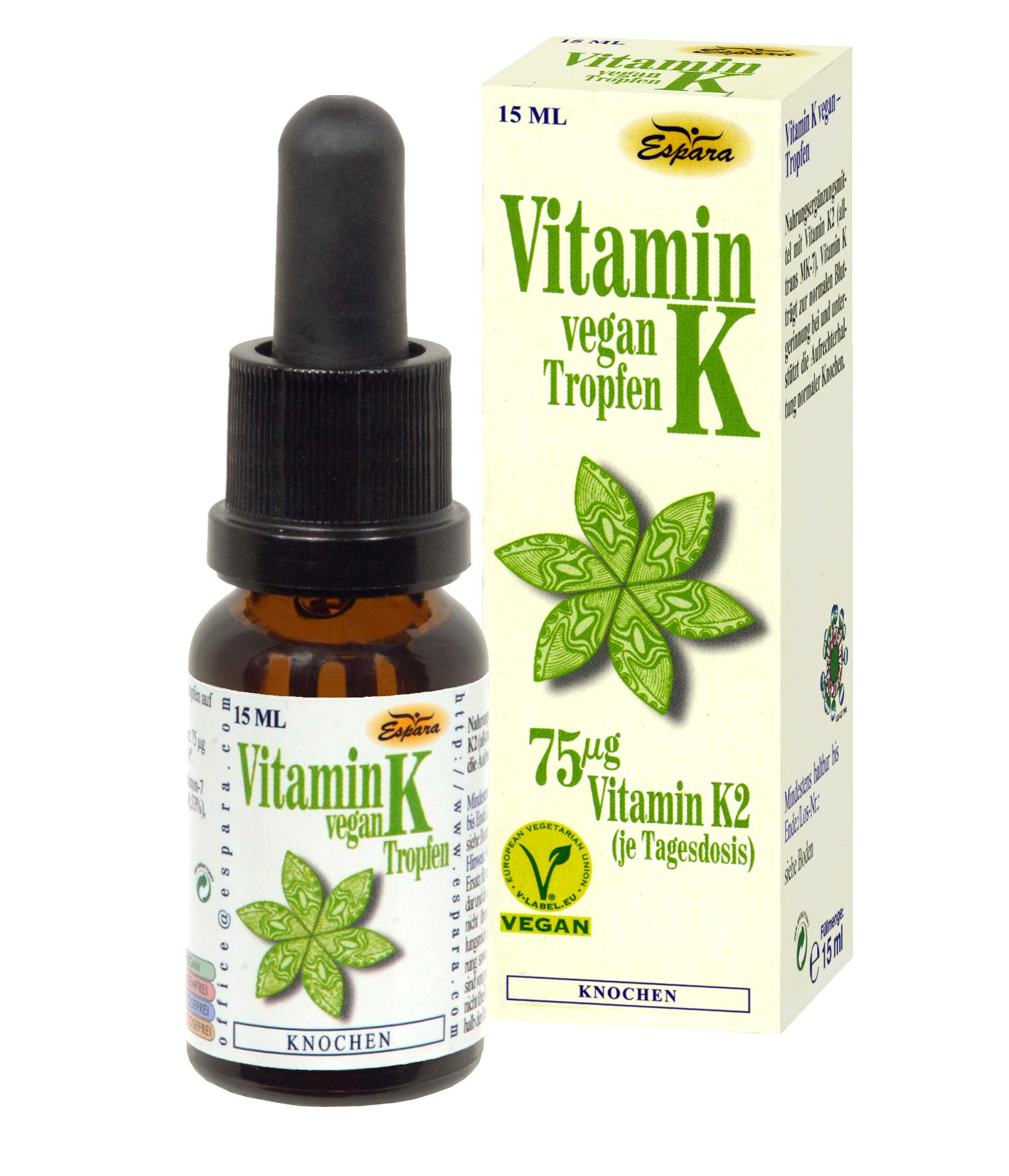Espara Vitamin K vegan Tropfen