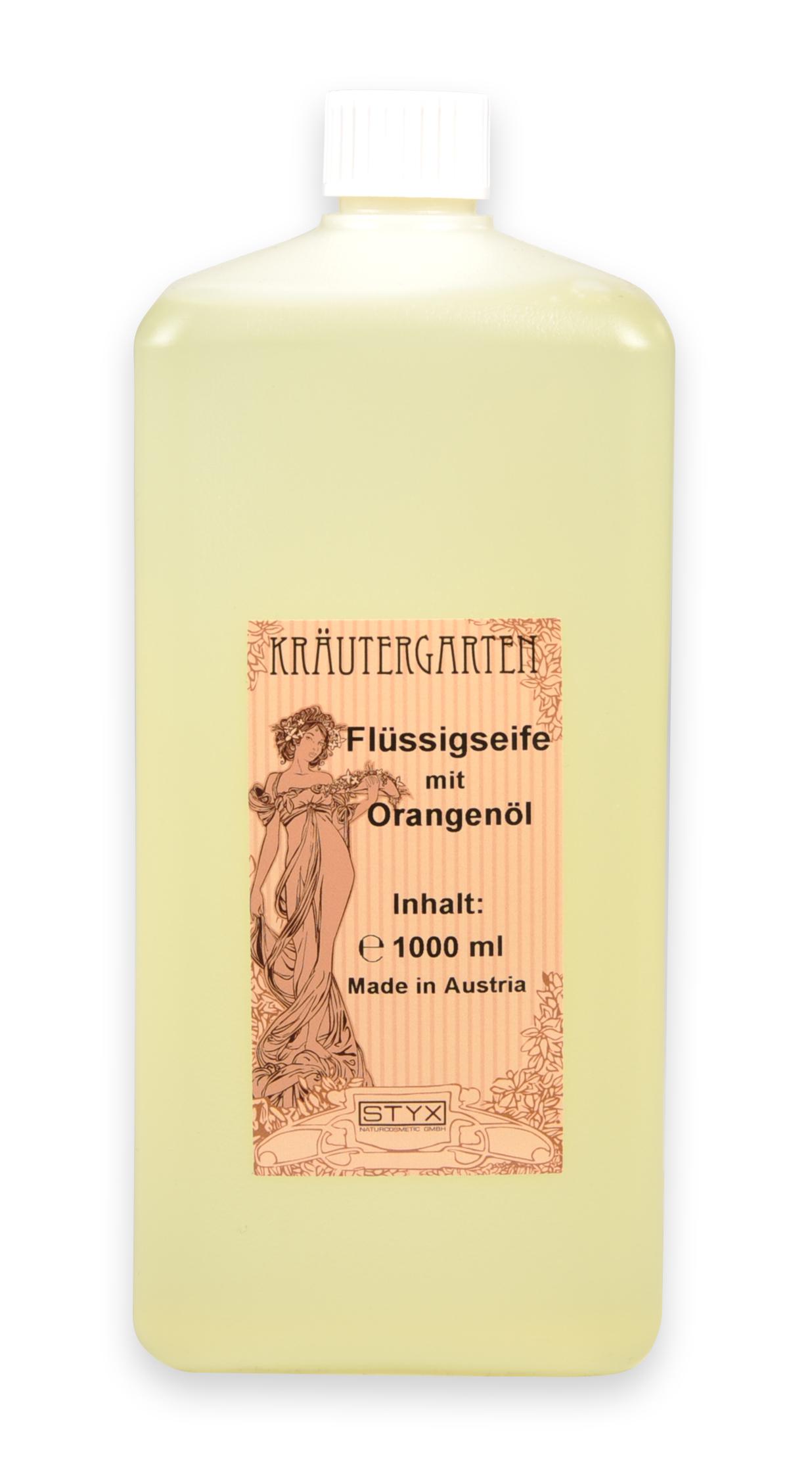 Flüssigseife mit Orangenöl 1 Liter