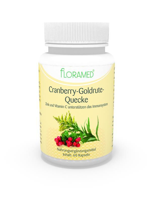 Floramed Cranberry-Goldrute-Quecke Kapseln