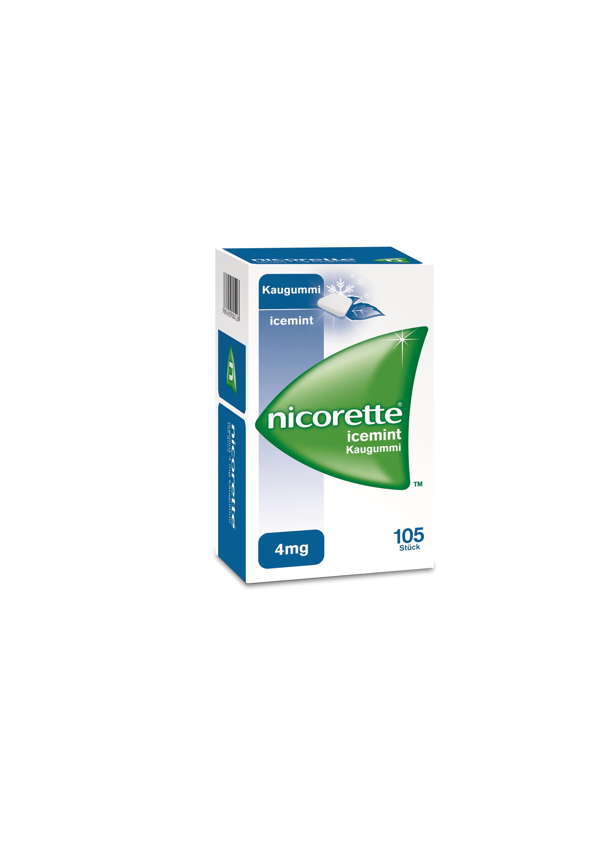 Nicorette Icemint 4 mg - Kaugummi zur Raucherentwöhnung