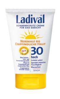 LADIVAL® normale bis empfindliche Haut Sonnenschutz Creme für das Gesicht LSF 30