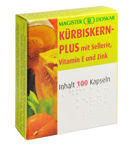 Doskar Kürbiskern plus 100 Kapseln