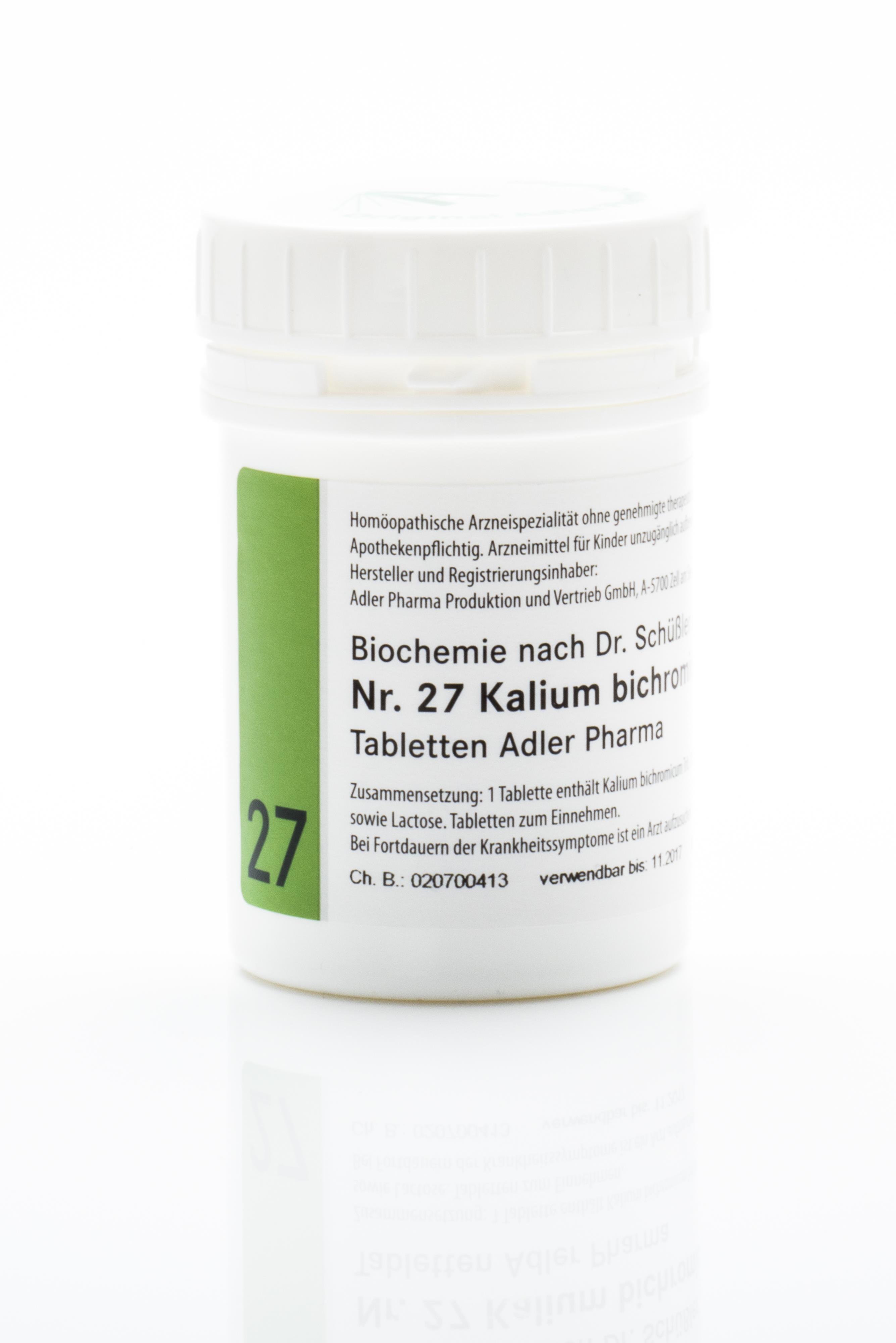 Schüßler Salz Adler Nr. 27 D12 Tabletten