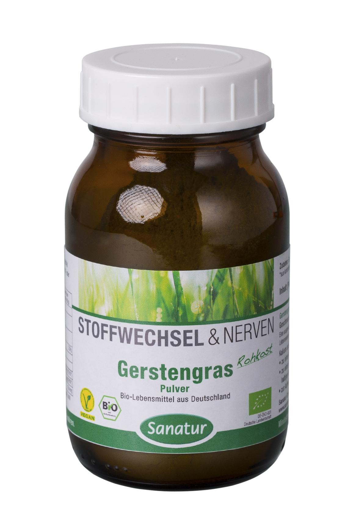 Sanatur Gersten-Gras Pulver BIO