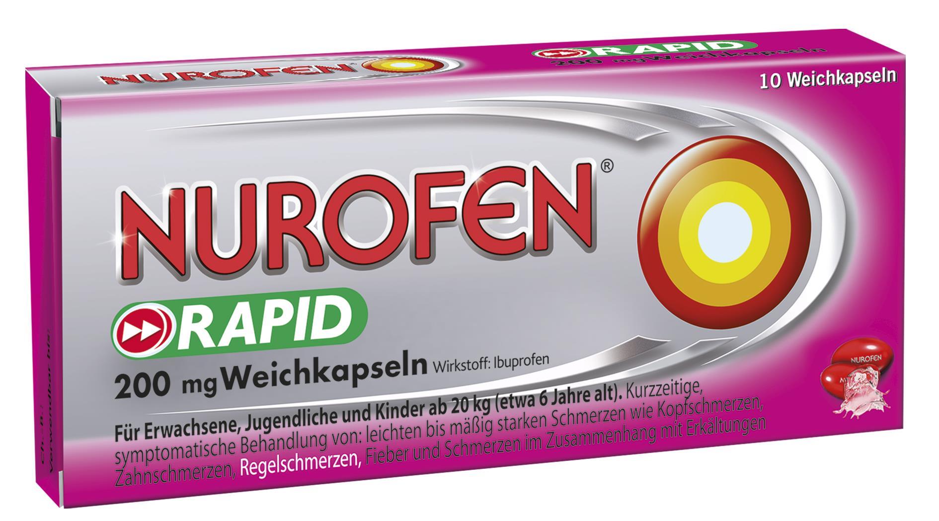 Nurofen rapid 200 mg - Weichkapseln
