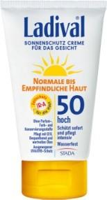 LADIVAL® normale bis empfindliche Haut Sonnenschutz Creme für das Gesicht LSF 50