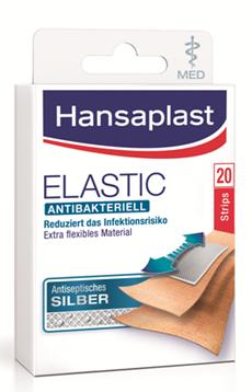 Hansaplast Elastic MED antibakteriell Strips