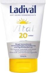 LADIVAL® Vital Anti Aging Sonnenschutz Creme LSF 20 für Gesicht, Dekolleté und Hände