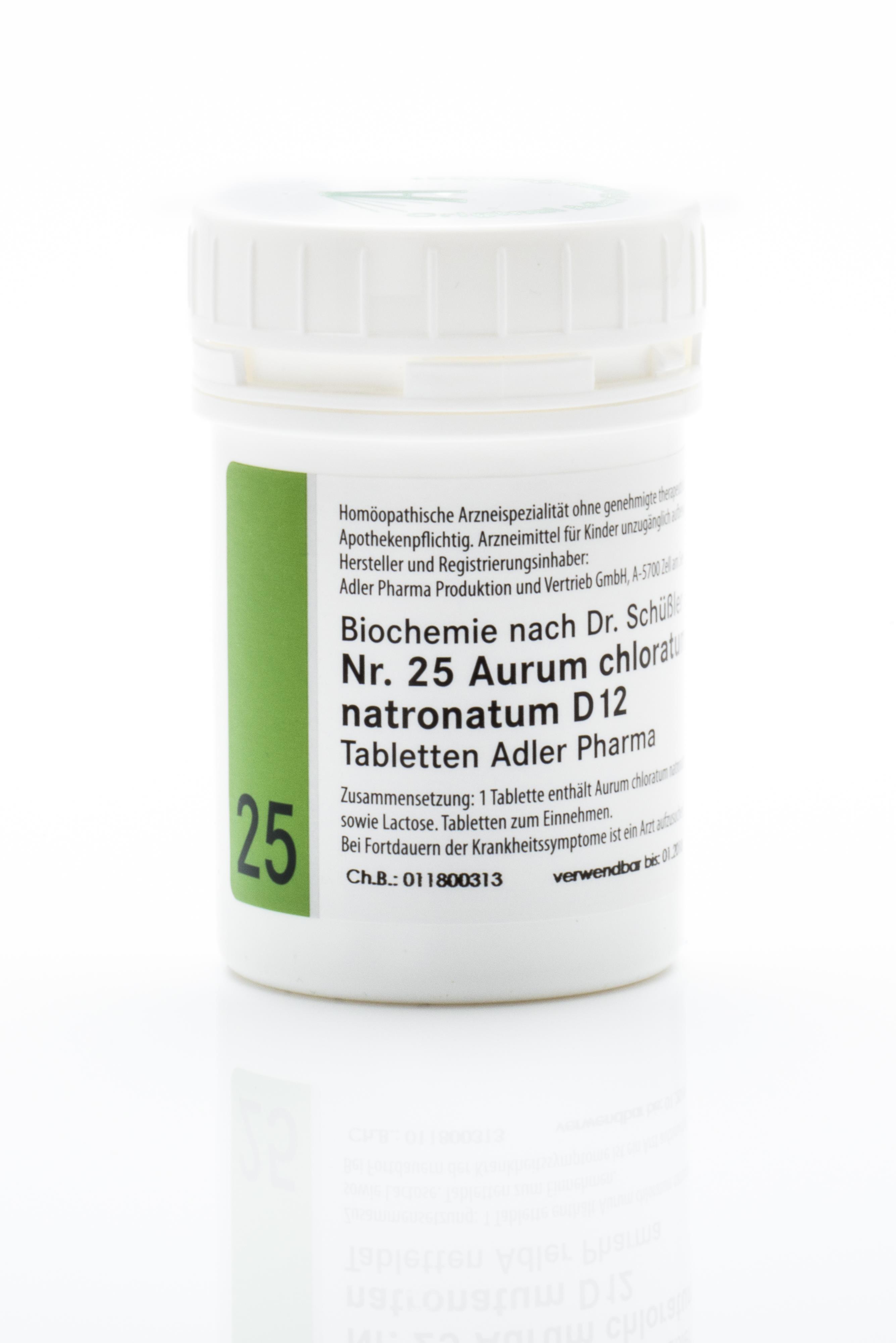 Schüßler Salz Adler Nr. 25 D12 Tabletten