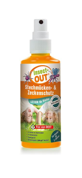 Insect Out Stechmücken-Zeckenschutz Lotion für Kinder