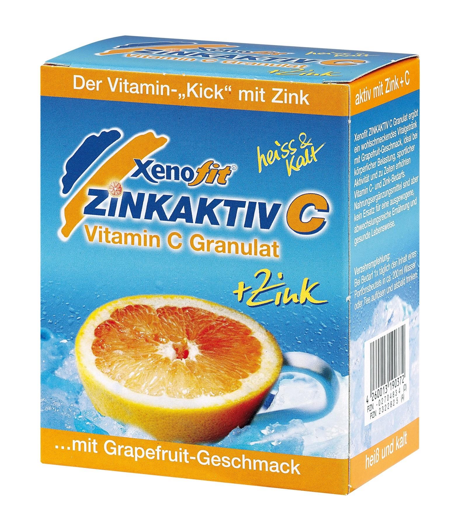 Xenofit Zinkaktiv C - Grapefruit Beutel