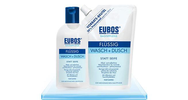 Eubos Wasch- und Duschemulsion BLAU flüssig Flasche-400 ml