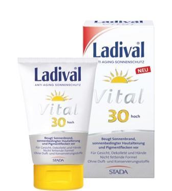 LADIVAL® Vital Anti Aging Sonnenschutz Creme LSF 30 für Gesicht, Dekolleté und Hände