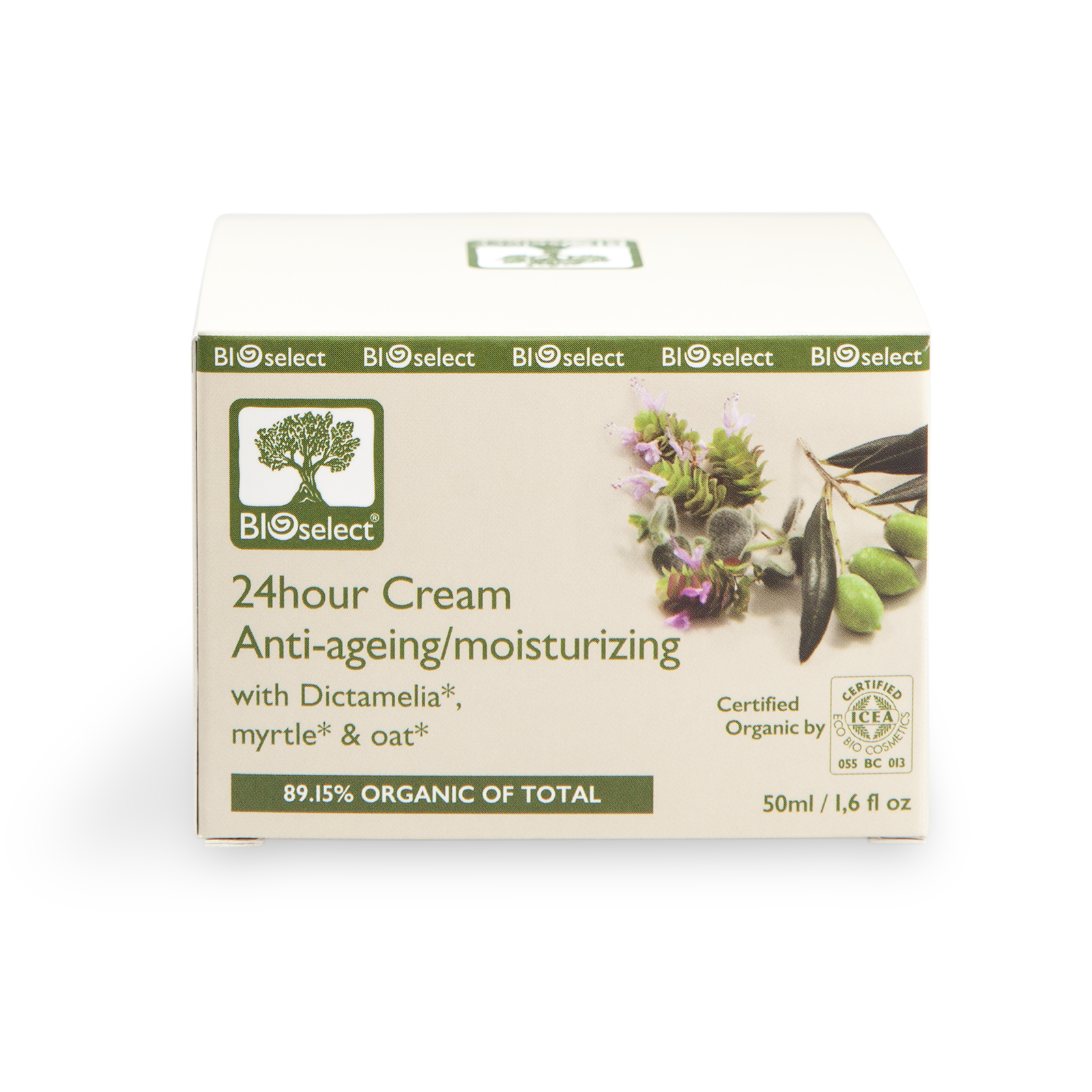 Bioselect 24hour Cream Anti-ageing/moisturizing