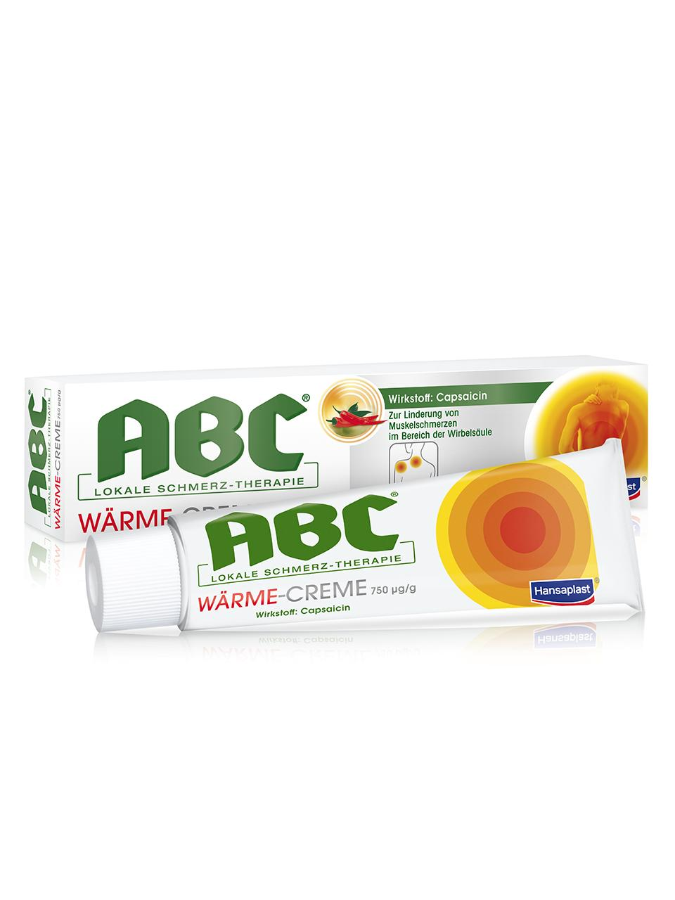 ABC Lokale Schmerz-Therapie Wärme-Creme 750 Mikrogramm/g Creme
