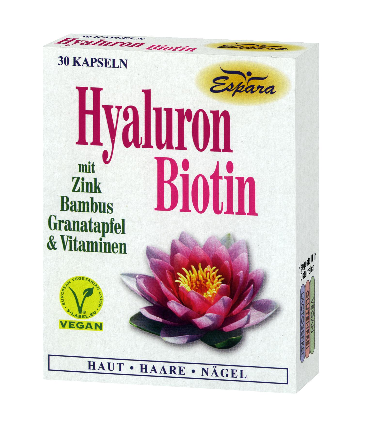 Espara Hyaluron-Biotin Kapseln