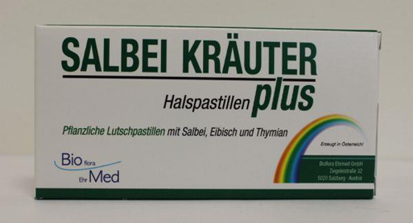 Salbei Kräuter Plus Halspastillen Bioflora Ehrmed