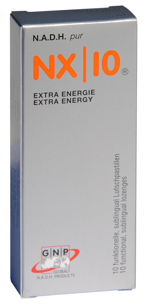 NADH NX|10 Extra Energie 30 Lutschpastillen á 20mg NADH