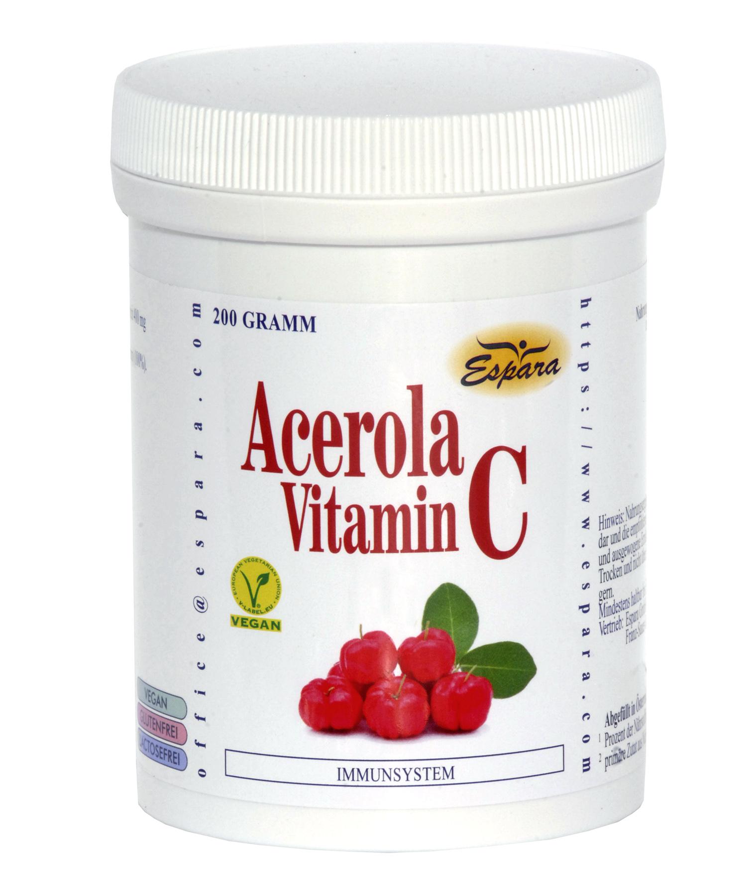 Espara Acerola Vitamin C Pulver