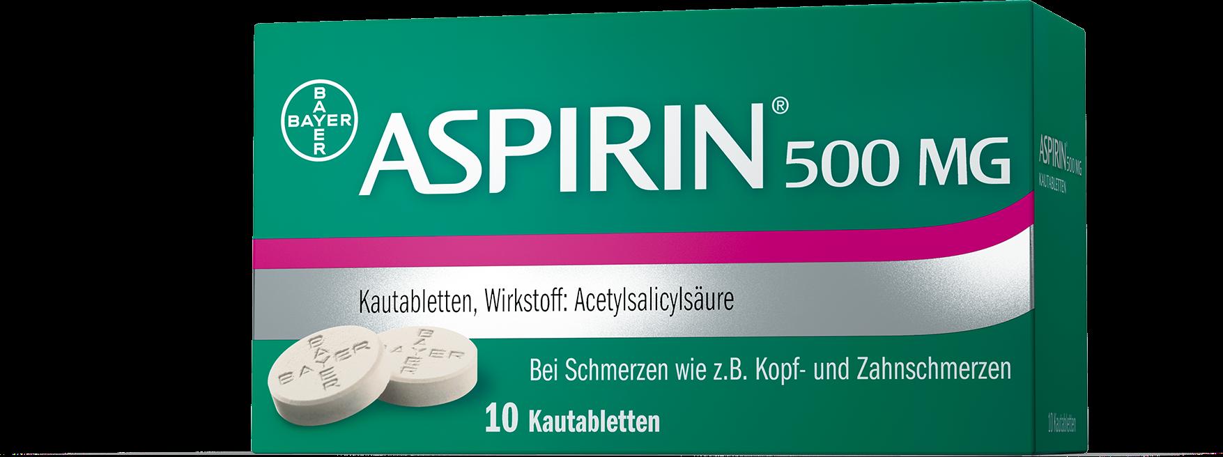 Aspirin® 500 mg Kautabletten
