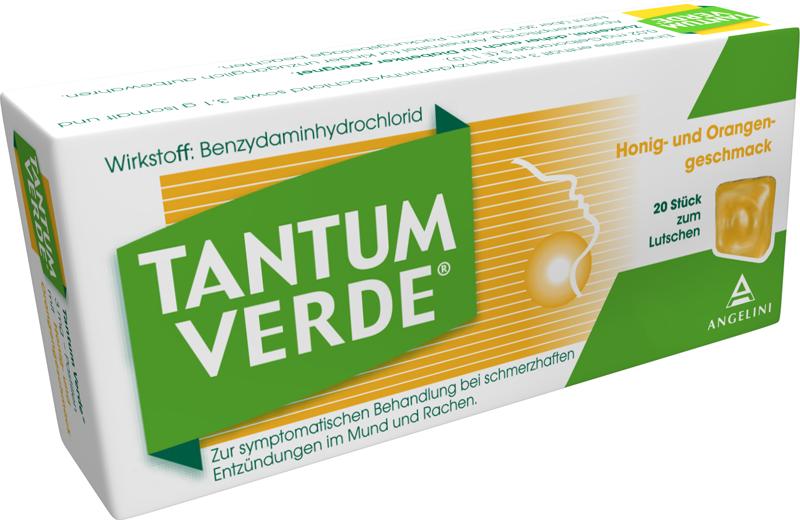 Tantum Verde 3 mg - Pastillen mit Honig- und Orangengeschmack