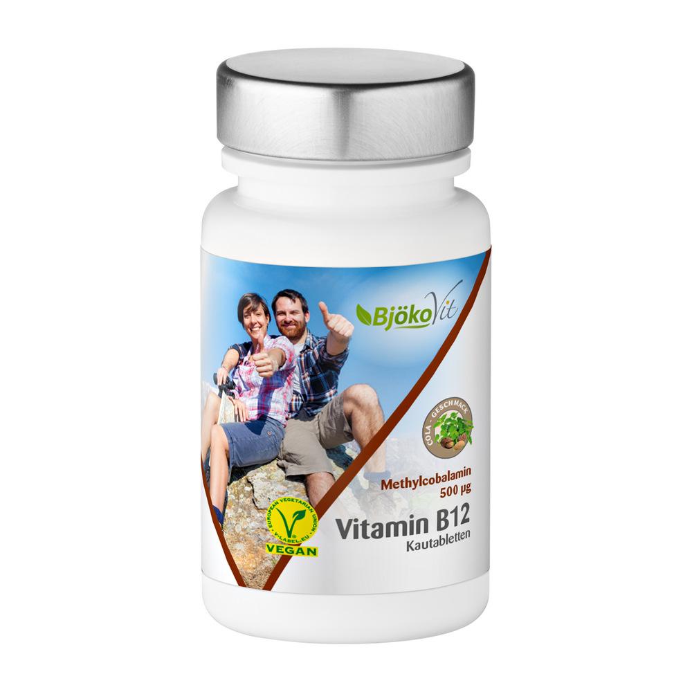 BjökoVit Vitamin B12 Kautabletten 500mcg vegan
