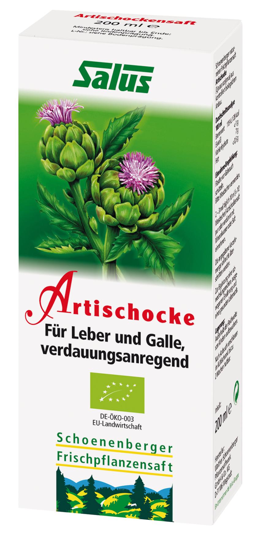 Schoenenberger Bio-Pflanzensaft Artischocke