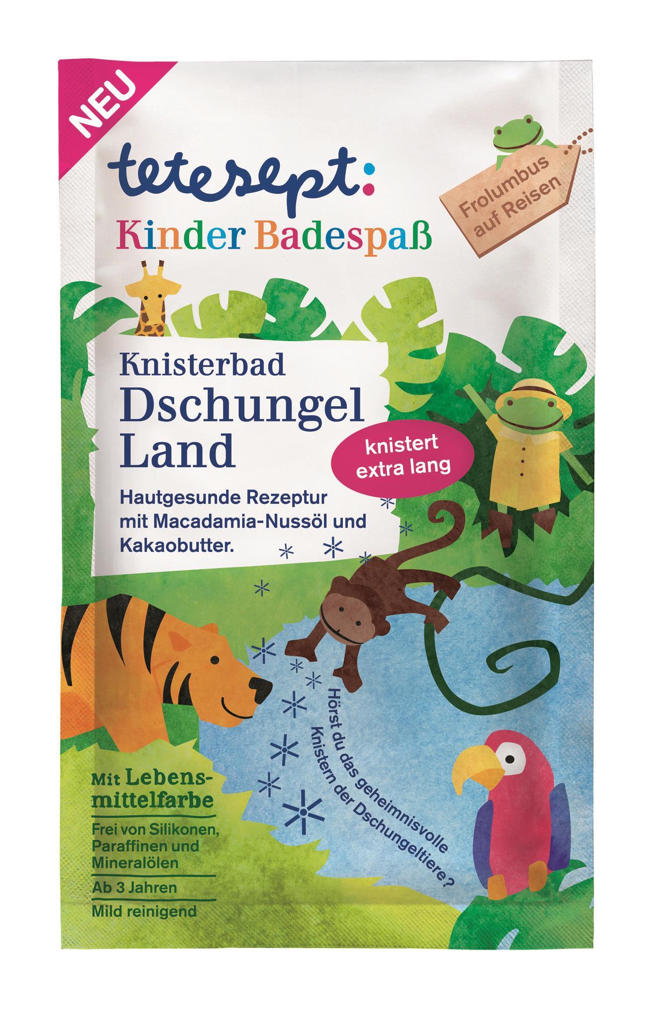 tetesept Kinderbadespass Dschungelland Knisterbad