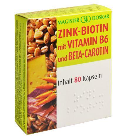 Doskar Zink Biotin plus 80 Kapseln