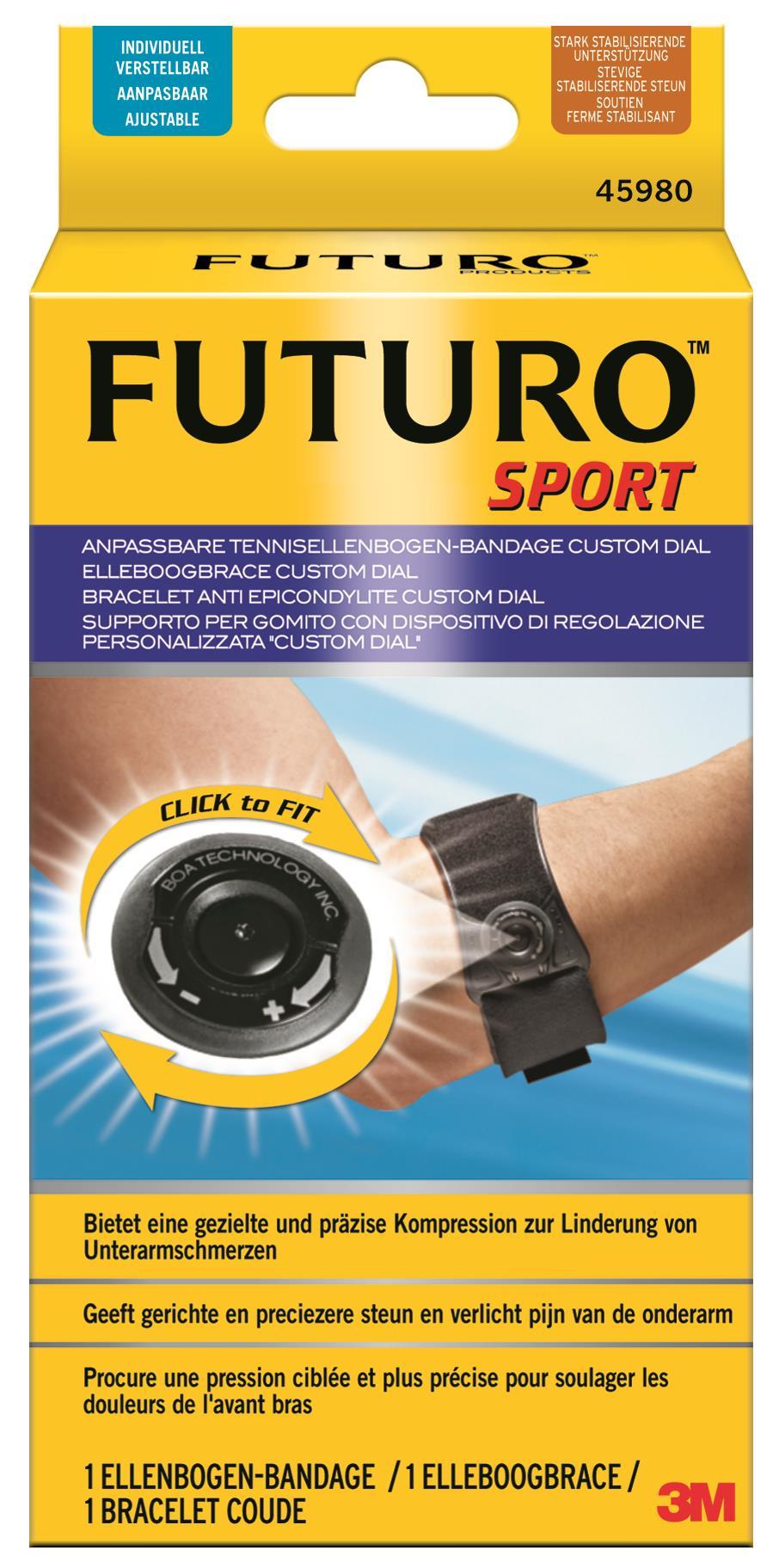 Futuro Custom Dial Sport Knie-Spange, anpassbar