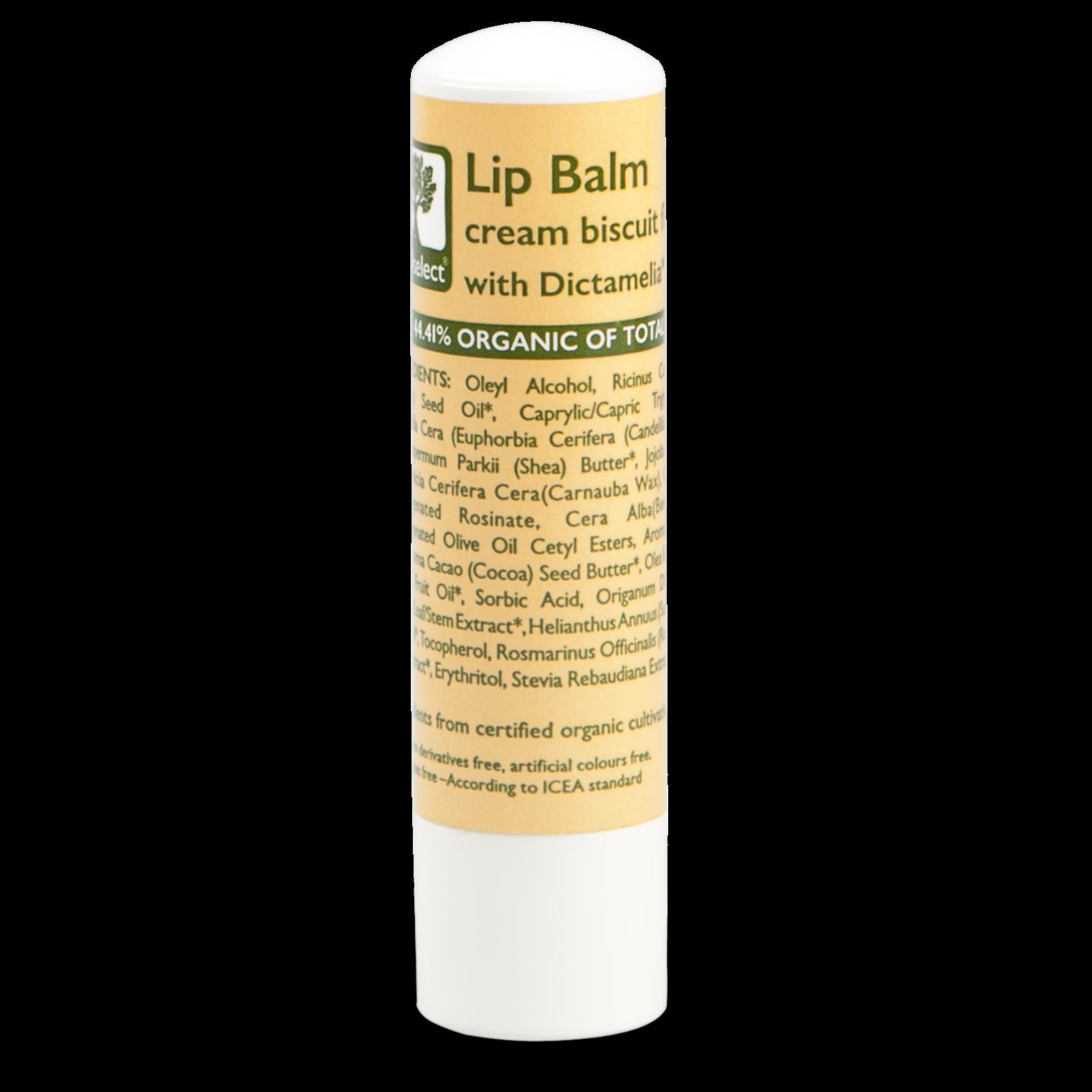 Bioselect Lip Balm cream biscuit flavor