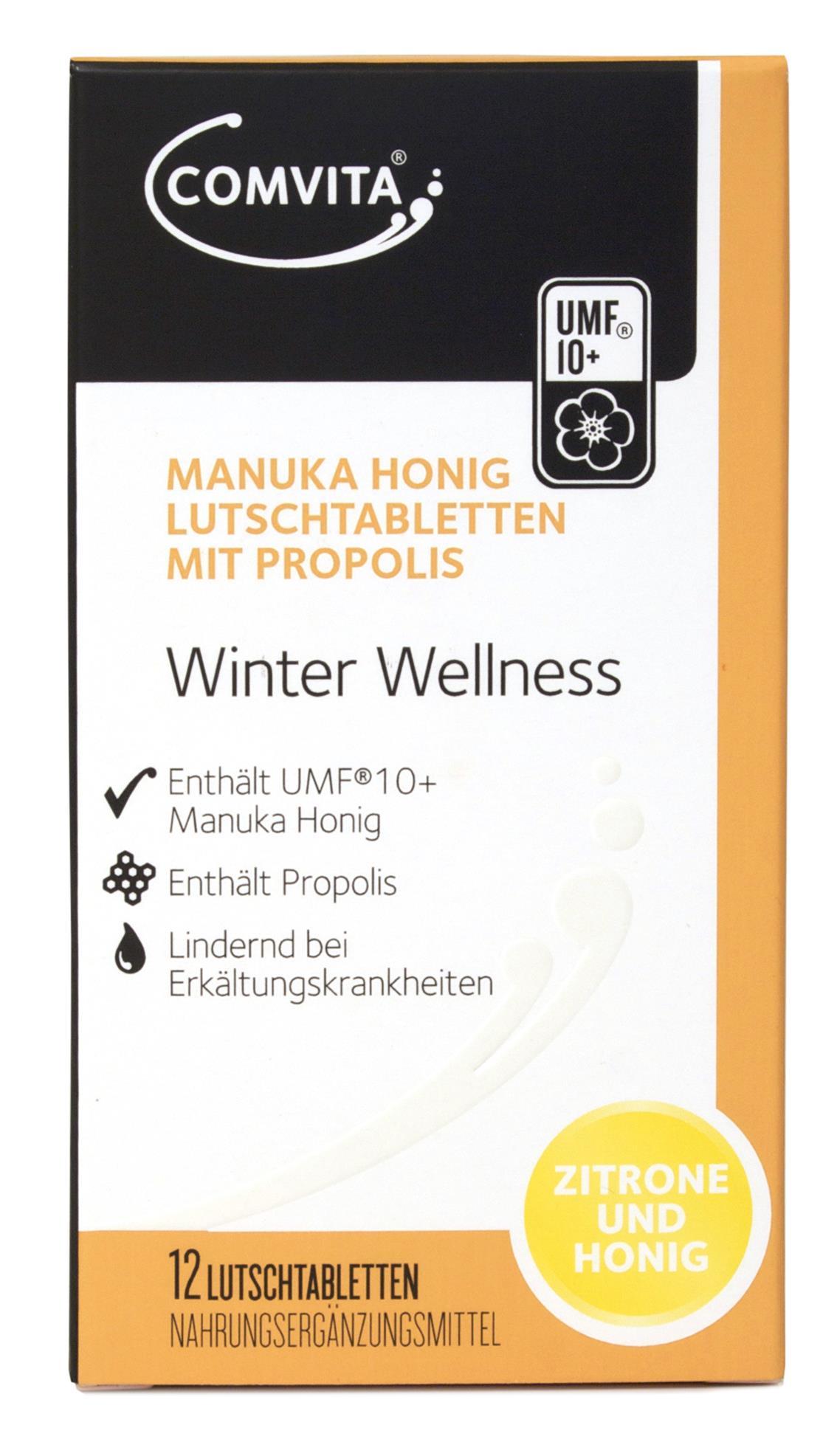 Manuka Honig Lutschtabletten mit Zitrone