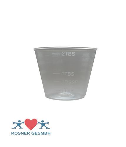 Rosner Medikamentenbecher Plastik 30ml, transparent