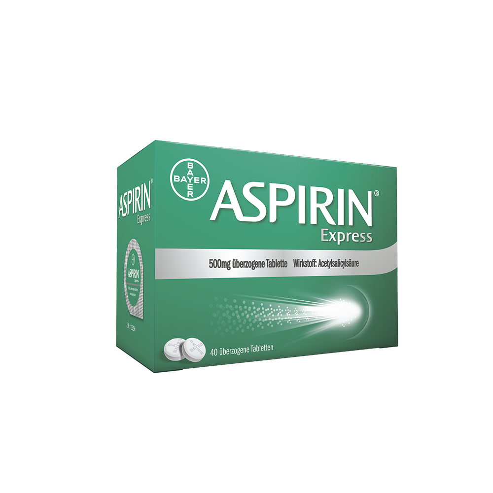 Aspirin Express 500 mg - überzogene Tablette