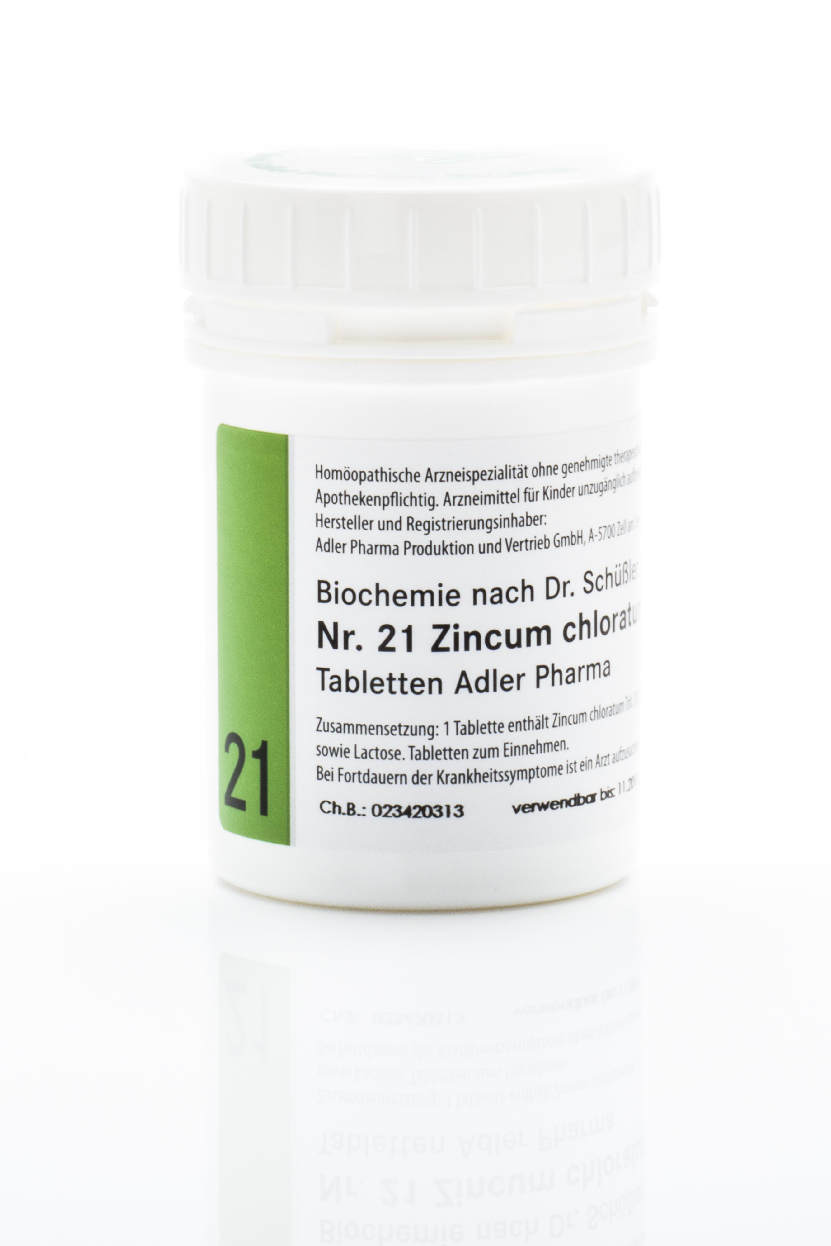 Schüßler Salz Adler Nr. 21 D12 Tabletten