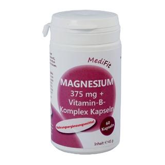 Magnesium 375 mg + Vitamin-B-Komplex Kapseln