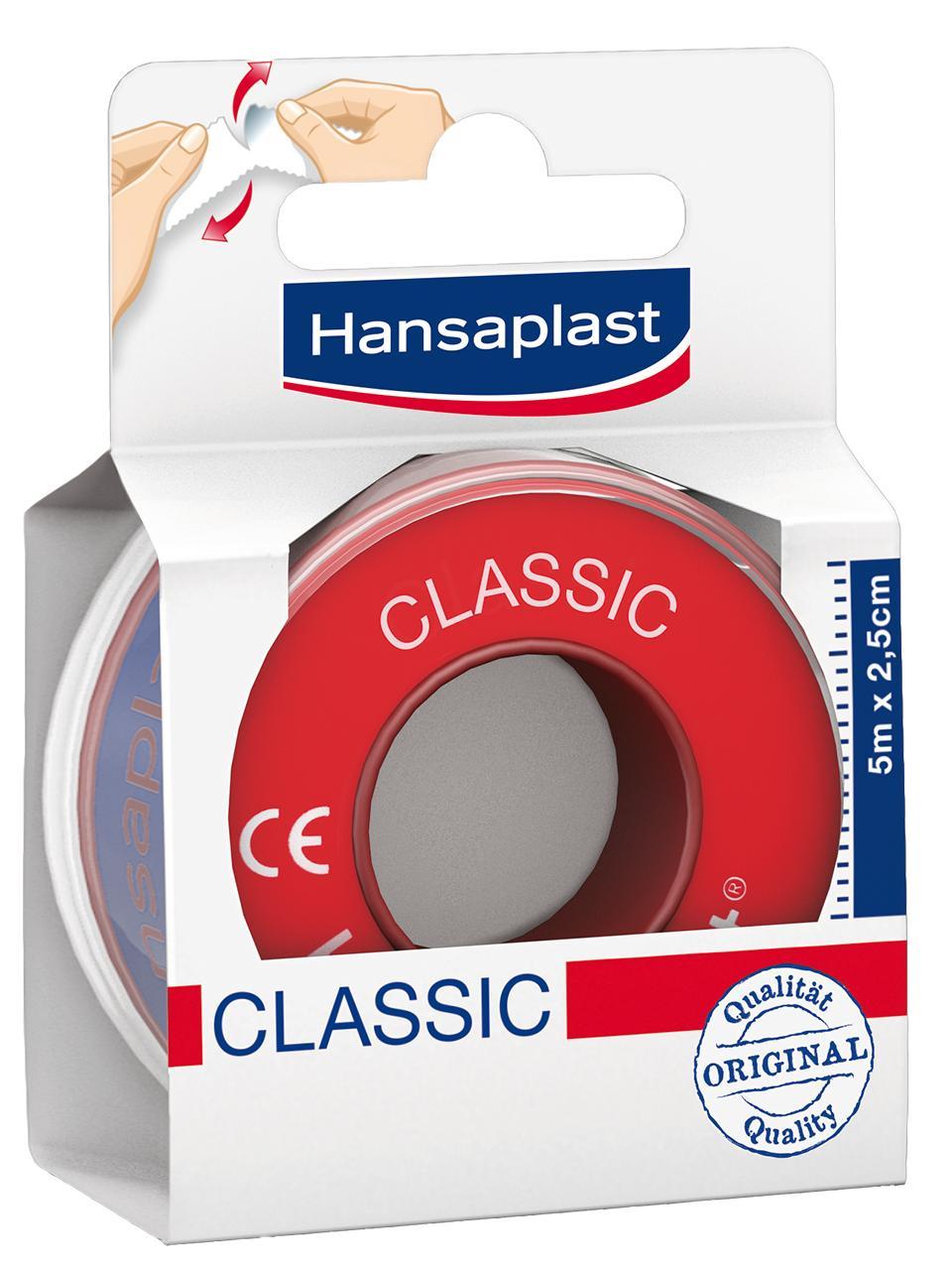 Hansaplast med Fixierpflaster classic 2,5cm x 5m